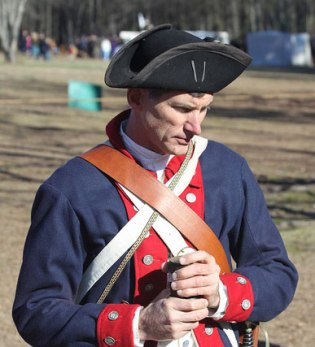 Christopher Rucker, MD, is an artillerist at the Cowpens National Battlefield, where his volunteer crew interprets the use of the two British cannon used at teh January 1781 battle.
