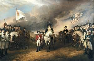 British surrender at Yorktown. French play 'yankee doodle dandy' to rub it in.