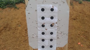 Target (the larger holes are mine)