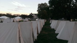2nd North Carolina Tents at Warner Hall