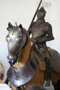 The Spanish brought horses to assist with colonial domination. Picture taken at the Columbus Alcazar in Santo Domingo